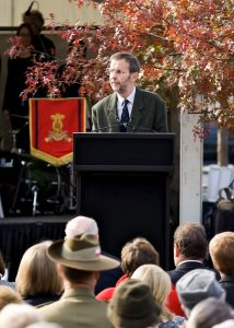 at the unveiling of the statue of Pompey Elliott at Ballarat in May 2011