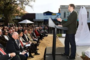 Speaking at the unveiling of the statue of Pompey Elliott at Ballarat in May 2011